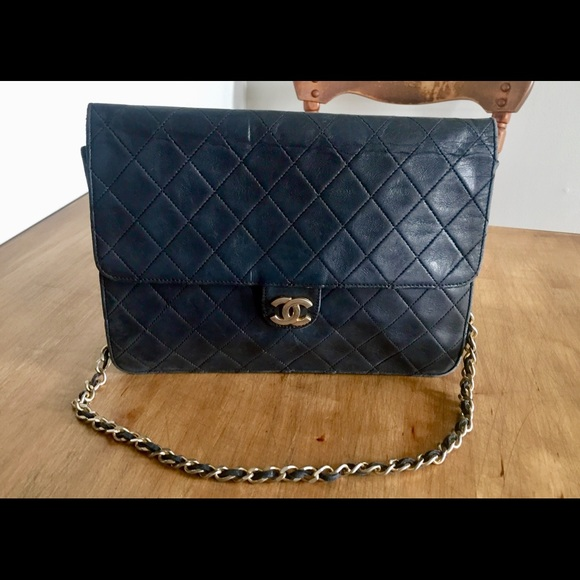 CHANEL Bags   Classic Quilted Back Leather Sounder Bag   Poshmark aaeab3d5bf